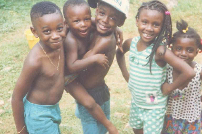 Artist Chirstopher Udemezue visiting Jamaica as a boy